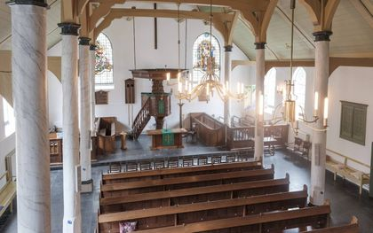 Wat betekent de verruiming van de coronamaatregelen voor de kerkgang? Foto: Lutherse kerk in Woerden.beeld Sjaak Verboom