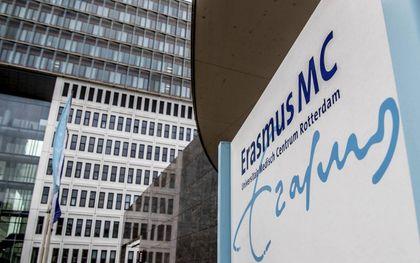 Onder meer in het Erasmus MC werd deze dinsdag gestaakt.beeld ANP, Robin Utrecht