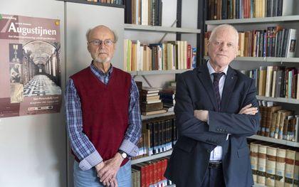 Dr. Joop Smit (links) en dr. Martijn Schrama zijn nog twee van de weinig overgebleven augustijnen in Nederland. beeld RD, Anton Dommerholt
