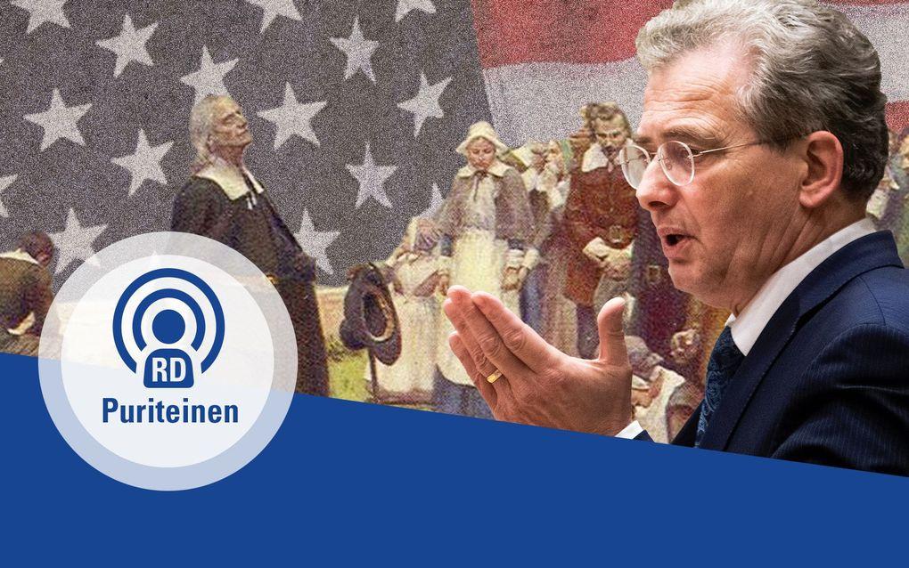 PuriteinenPodcast met Roelof Bisschop over de geschiedenis van de puriteinen. beeld RD