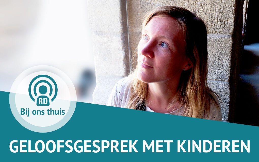 """Aline Hoogenboom praat in deze aflevering als moeder, orthopedagoog, predikantsvrouw over: """"Hoe praat je in het gezin over geloof?"""" beeld RD"""