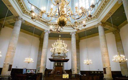 Interieur van de Leidse Marekerk. beeld RD, Henk Visscher