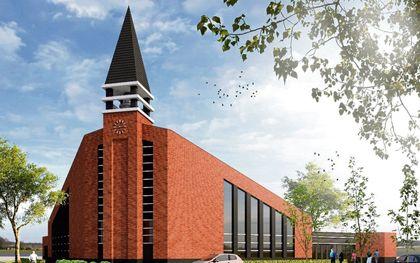 Het ontwerp voor het nieuwe kerkgebouw. beeld Architectenbureau Born