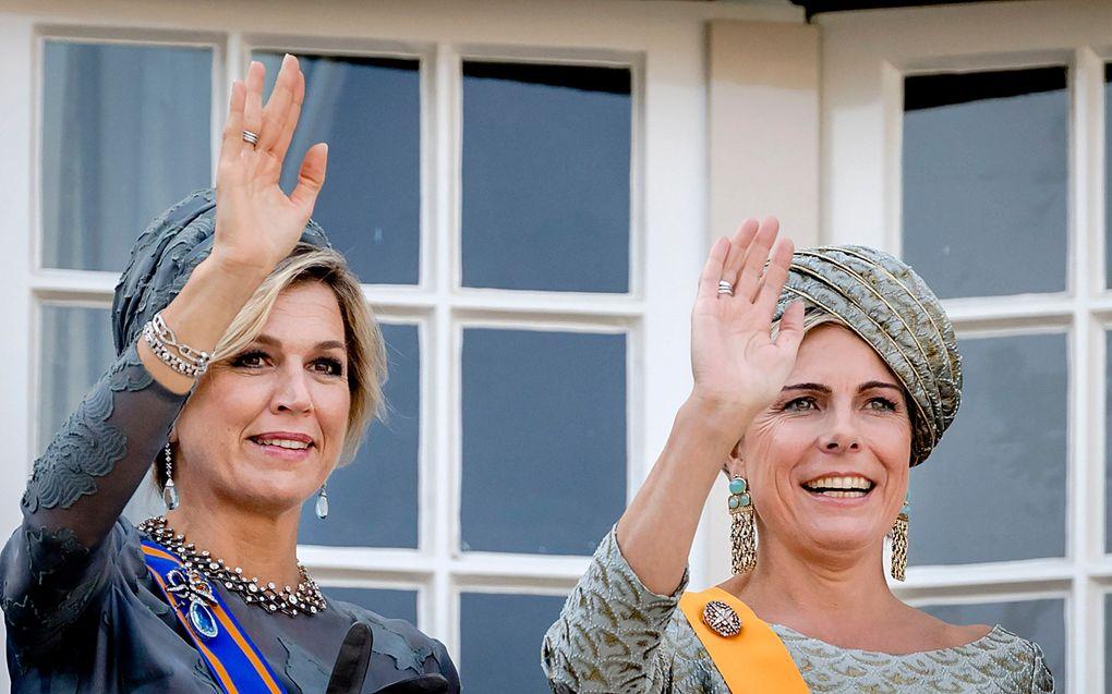 Koningin Máxima en prinses Laurentien. beeld ANP