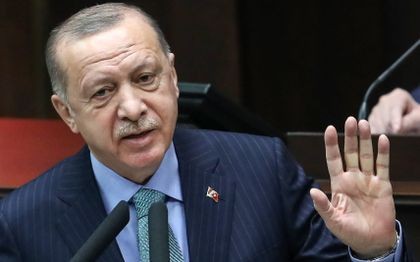 De Turkse president Recep Tayyip Erdogan. beeld AFP, Adem ALTAN