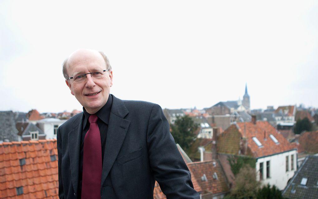 """Prof. dr. M. te Velde: """"Brummelkamp was door zijn irenische karakter een verbindende schakel binnen de beweging van de Afscheiding."""" Foto RD, Henk Visscher"""