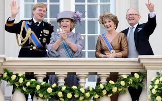 Prins Willem-Alexander, koningin Beatrix, prinses Margriet en Mr. Pieter van Vollenhoven, prinsjesdag 2010. Foto ANP