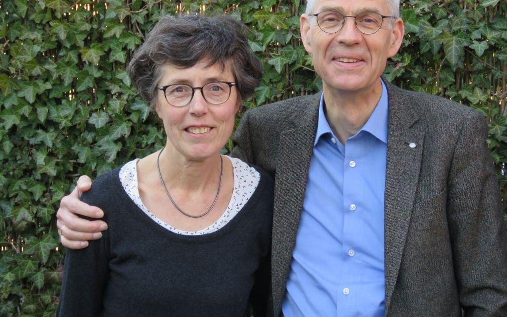 Ds. Cees van Duijn en zijn vrouw Mery. beeld GZB