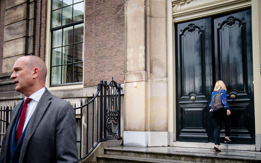 Sigrid Kaag (D66) en Gert-Jan Segers (ChristenUnie) wisselen elkaar af bij de gesprekken met informateurs Johan Remkes en Wouter Koolmees. beeld ANP, Bart Maat