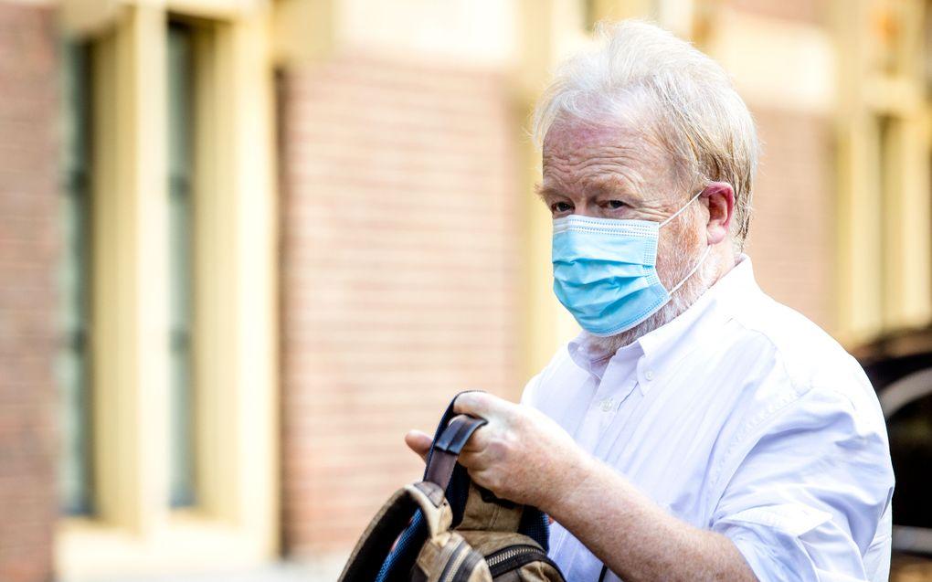 Jaap van Dissel, directeur RIVM, komt aan voor het overleg van de Ministeriele Commissie COVID-19 (MCC-19) over de aanpak van het coronavirus. beeld ANP, Sem van der Wal