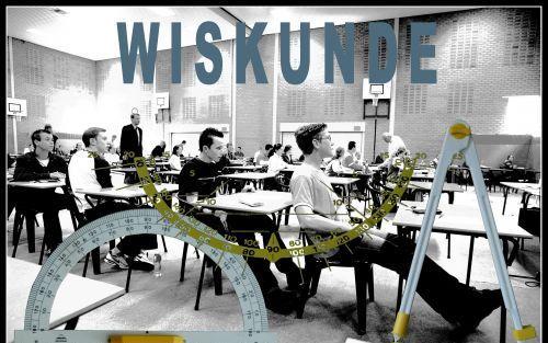 Examen wiskunde. Foto RD, Henk Visscher