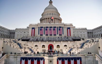 Zonsopgang bij het Capitool. beeld AFP, Caroline Brehman