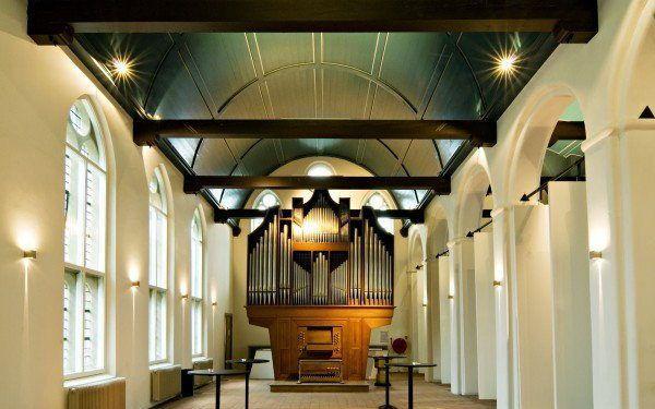Het orgel van het Leeuwenbergh Gasthuis in Utrecht. beeld Gasthuis Leeuwenbergh