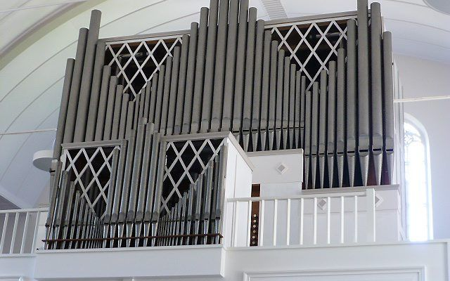Het Flentroporgel in de Immanuëlkerk van Driebergen. beeld Gert-Jan Dunsbergen