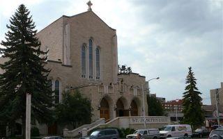Matthew Hysell ontving als eerste dove Canadees in de St. Joseph's Basilica in Edmonton zijn priesterwijding. Foto Wikimedia
