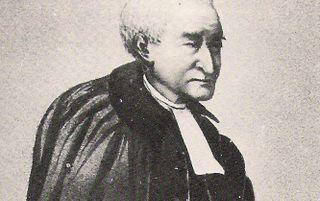 Geretoucheerde foto van een door H. A. Luitwieler geschilderd portret van ds. Budding (1810-1870).