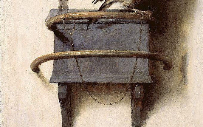 """""""Het puttertje"""", Carel Fabritius. beeld Mauritshuis Den Haag"""