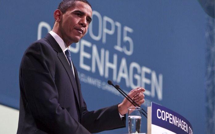 Obama sprak vrijdag op de klimaattop. Foto EPA