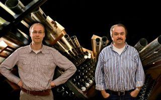 Chiel Jan van Hofwegen (links) en Martin Mans. Foto's Sjaak Verboom