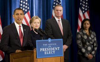 Een aantal van Obama's ministers is dinsdag enkele uren na de inauguratie bevestigd door de Senaat. - Foto EPA