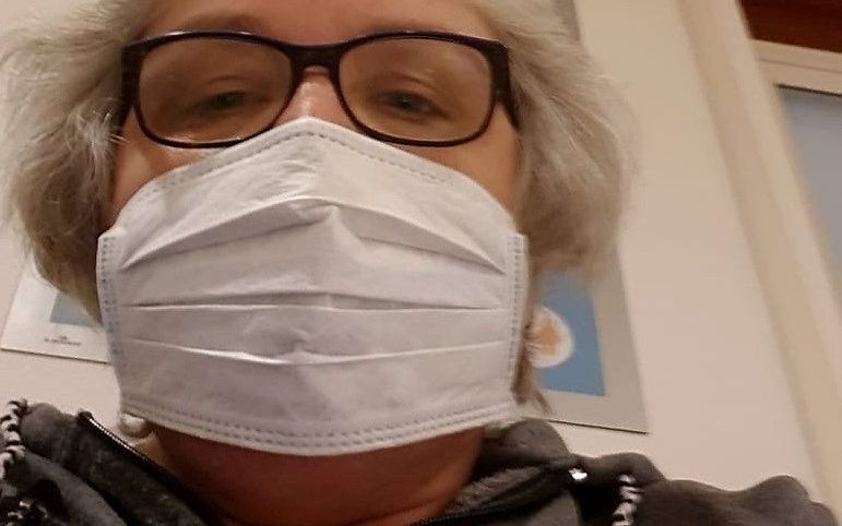 Corine Doornhein op het moment dat ze werd opgenomen in het ziekenhuis. beeld familie Doornhein