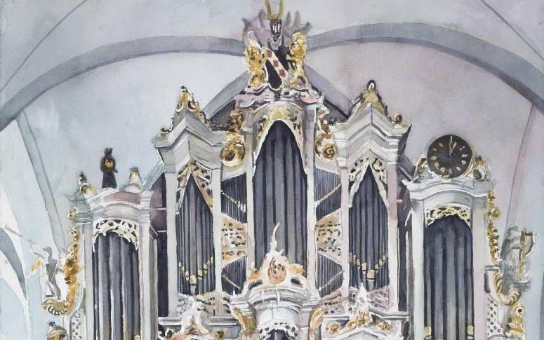 Het Paradijsorgel in de Oude Kerk te Barneveld. beeld ColorUtrecht