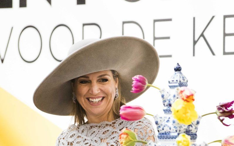 Koningin Máxima vrijdag in Delft. beeld ANP