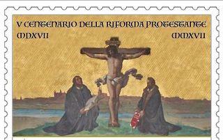 De Reformatiepostzegel. beeld Vaticaan