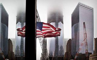 De wederopbouw van Ground Zero is in volle gang. In 2013 moet het pronkstuk, de 541 meter hoge Freedom Tower, klaar zijn. Foto RD, Henk Visscher