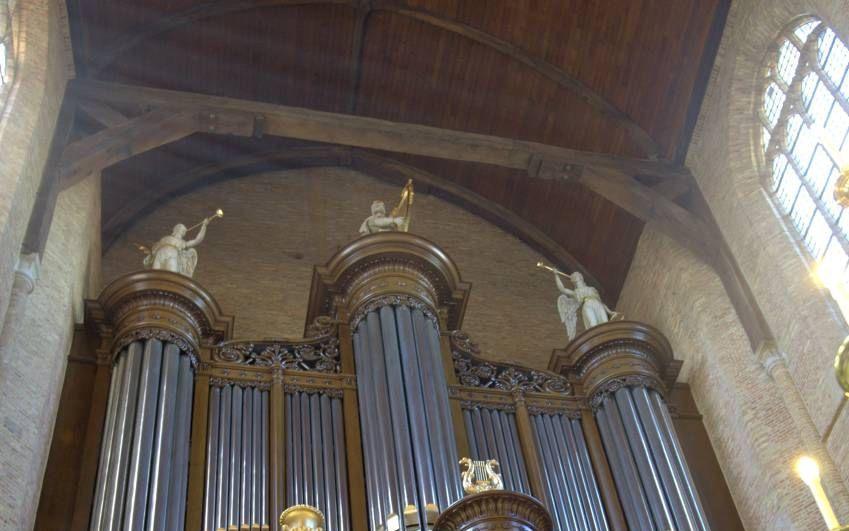 Het orgel van de Nieuwe Kerk in Delft. beeld Gerard de Jongh