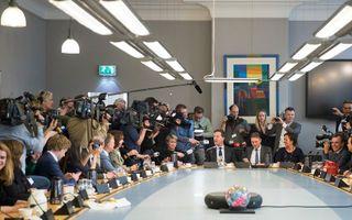 Veel media donderdag bij de VVD. beeld ANP