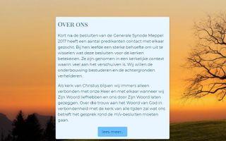 Website bezinningmvea.nl. beeld RD