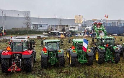 Boeren blokkeerden in december het distributiecentrum van Jumbo in Raalte. beeld ANP, Vincent Jannink