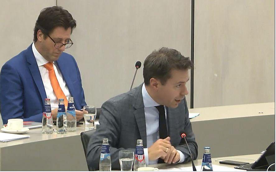SGP-kamerlid Chris Stoffer dinsdagavond tijdens het commissiedebat over de regelingen in de coronawet. beeld RD
