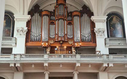 Het orgel in de Mozes en Aäronkerk. beeld Evan Bogerd