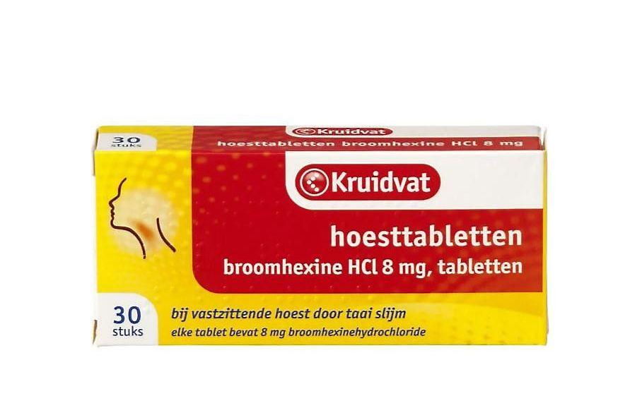 Broomhexine, een hoesttablet dat onder meer bij Kruidvat is te krijgen, lijkt goed te werken bij coronapatiënten die met klachten in het ziekenhuis zijn opgenomen. beeld RD