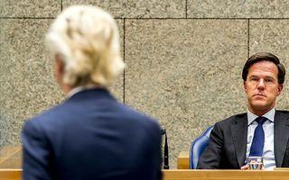 PVV-leider Wilders (l.) en VVD-voorman Rutte. beeld ANP, Jerry Lampen