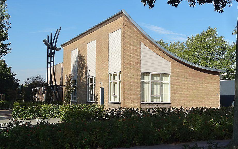 De Oenenburgkerk in Nunspeet, waar de generale synode van de Christelijke Gereformeerde Kerken vergadert . beeld RD