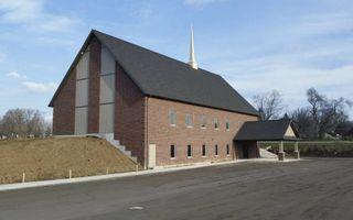 Exterieur van het nieuwe kerkgebouw. beeld ogg Salford