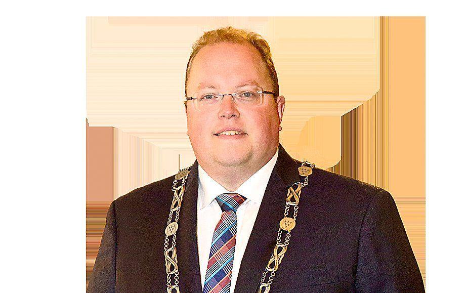 Burgemeester B. Visser. beeld RD, Anton Dommerholt