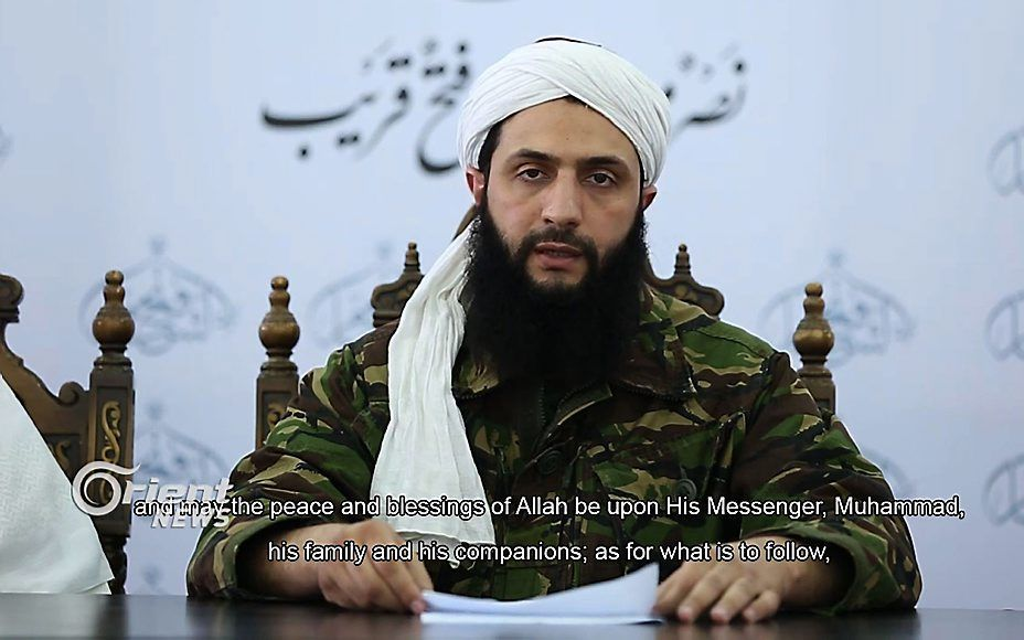Beelden van een voorman van Jabhat al-Nusra uit 2016. beeld AFP