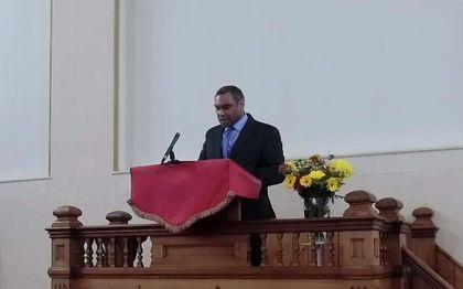 De Londense pastor Darren Cadapen (Dulwich) was een van de sprekers tijdens de huwelijksconferentie. beeld RD