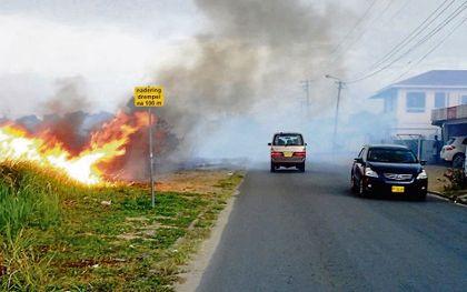 Brand in Paramaribo.beeld Armand Snijders