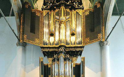De historische orgelkas in de Westerkerk in Enkhuizen. beeld Stichting de Westerkerk Enkhuizen
