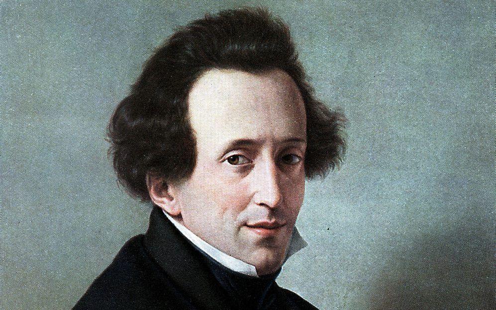 Portret van Felix Mendelssohn Bartholdy, geschilderd door Wilhelm von Schadow in 1835. beeld RD